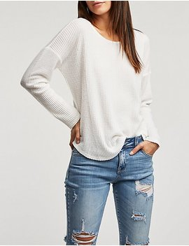 Strappy Back Brushed Knit Top by Charlotte Russe