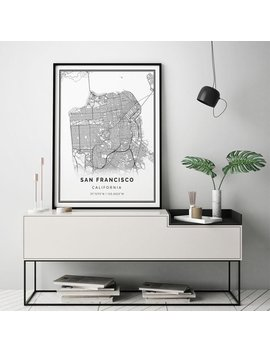 San Francisco Map Print | Scandinavian Wall Art Poster | City Maps Artwork | California Gifts | Map To Frame | M13 by Etsy