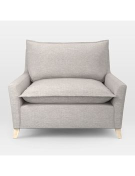Bliss Down Filled Chair And A Half, Twill, Wheat by West Elm