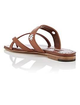 Susahole Leather Slide Sandals by Manolo Blahnik