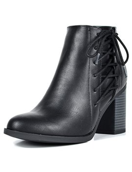 Toetos Women's Chicago Chunky Heel Ankle Booties by Toetos