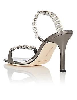 Dallifac Metallic Leather Sandals by Manolo Blahnik