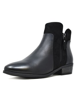 Dream Pairs Women's Faux Leather Chelsea Ankle Booties by Dream Pairs