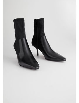 Square Toe Stiletto Sock Boots by & Other Stories