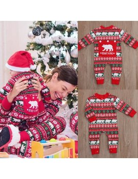 Boys Christmas Polar Bear Pj's Pajamas Romper by Etsy