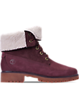 Women's Timberland Jayne Waterproof Fleece Fold Down Boots by Timberland