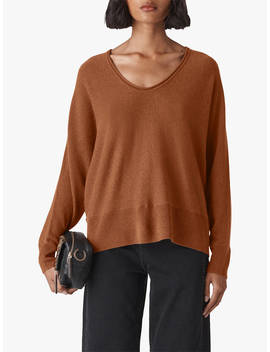 Whistles Relaxed Cashmere Jumper, Camel by Whistles