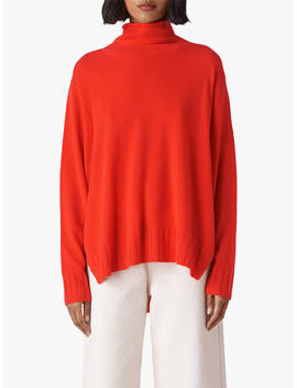 Whistles Cashmere Funnel Neck Jumper, Red by Whistles