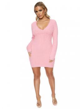 U Got Me Fuzzed Mini Dress by Naked Wardrobe