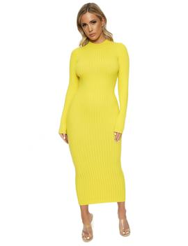 The Ribbed Feels Dress by Naked Wardrobe