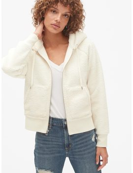 Sherpa Full Zip Hoodie by Gap