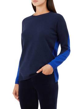 Hobbs Megan Knitted Wool Blend Sweater, Navy Cobalt by Hobbs