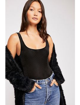 Velvet Rib Tank Bodysuit by Free People
