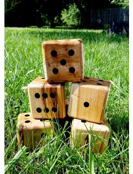 Dice Only! Yardzee, Farkle, Lawn Dice, Yard Game, Yard Dice, Lawn Game, Wedding Reception Game, Outdoor Wedding, Family Game, Outdoor Game, by Etsy