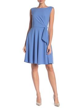 Side Tie Crepe Dress by Tahari