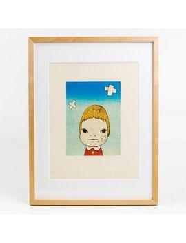New Yoshitomo Nara Art Poster [Green Eyes] Special Framing Ver.  F/S From Japan by Ebay Seller