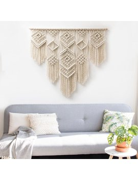 "Large Macrame Wall Hanging   Macrame Curtains   Macrame Wall Art   Macrame Patterns   Wall Tapestry   Macrame Headboard   Home Decor   ""Isa"" by Etsy"