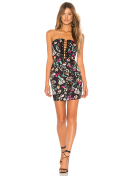 Kendrah Floral Lace Up Tube Dress by By The Way.