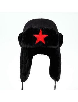 Men Pentagram Lei Feng Winter Hat Aviator Ear Flaps Bomber by Bomber