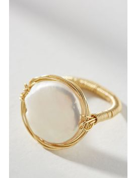 Sabrina Pearl Wrap Ring by Amber Sceats