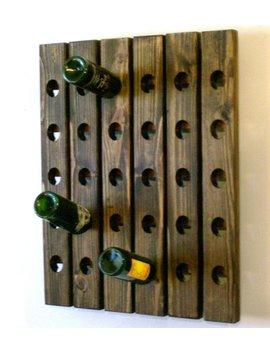Riddling Board Wine Rack Dark Walnut Finish by Etsy