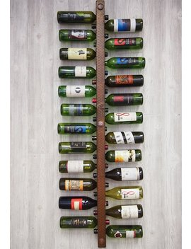 Wine Rack 24 Bottle, Vertical Wine Rack, Wine Rack Wall Mounted, Wine Rack Wood, Wine Storage, Dining Room Wall Decor, Wine Holder by Etsy