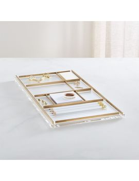 Russell + Hazel Acrylic Desk Tray by Crate&Barrel