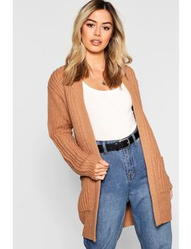 Petite Chunky Knitted Cardigan by Boohoo