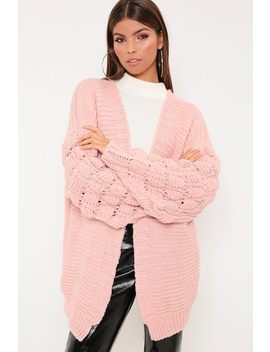 Pink Bubble Sleeve Cardigan by I Saw It First