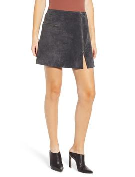 A Line Suede Miniskirt by Blanknyc