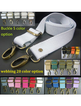 Clip On Crossbody Webbing Shoulder Strap Replacement Cotton Canvas Bag/Handbag by Ebay Seller