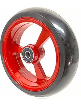 "Pair Of Frog Legs 4"" X 1.4"" Caster Wheel With Soft Roll Tire (Red & Black) by Frog Legs"