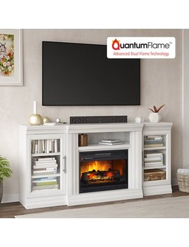 """Whalen Elwood Media Fireplace For 70"""" Flat Panel T Vs Up To 135 Lbs, Multiple Finishes Available by Fireplace Tv Stands"""