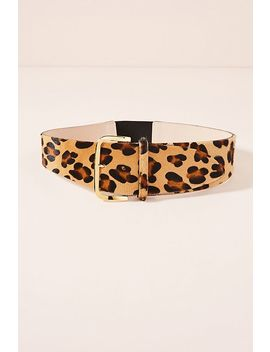 Cheetah Printed Calf Hair Waist Belt by Streets Ahead