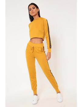 Mustard Side Stripe Tracksuit Joggers by I Saw It First