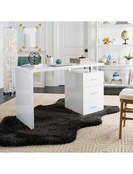 Safavieh Orrin White Chrome Desk by Safavieh