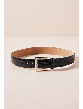 Crocodile Embossed Leather Belt by Streets Ahead