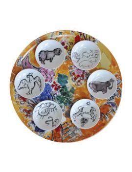 Marc Chagall Joseph Tribe Seder Platter & Dishes, Set Of 6 by Bernardaud