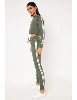 Khaki Side Stripe Tracksuit Joggers by I Saw It First