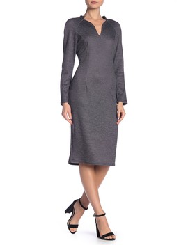 Stretch Knit Stand Collar Dress by Aerin