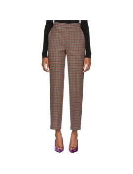 Brown Check Carrot Trousers by Balenciaga