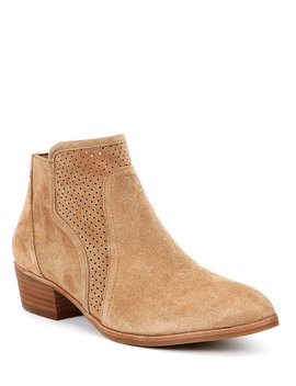 Elsen Suede Perforated Booties by Gianni Bini