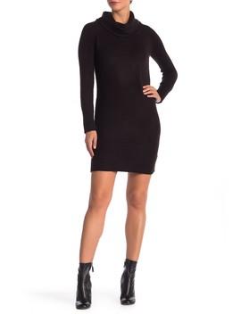 Mossy Cowl Neck Sweater Dress by Modern Designer