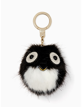 Penguin Pouf Keychain by Kate Spade