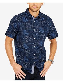 Men's Map Print Oxford Shirt by Nautica
