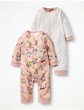 Twin Pack Pretty Rompers by Boden
