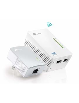 Tp Link Av600 Powerline Wi Fi Extender   Powerline Adapter With N300 Wi Fi, Power Saving, Ethernet Over Power(Tl Wpa4220 Kit) by Tp Link