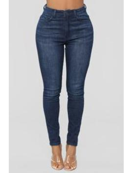 One Of The Girls High Rise Skinny Jeans   Dark Denim by Fashion Nova