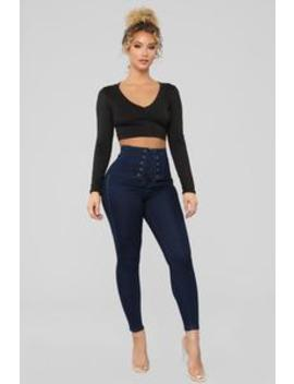 Speakers On Ankle Jeans   Dark Denim by Fashion Nova