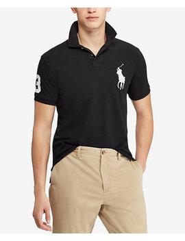 Men's  Big Pony Custom Slim Fit Mesh Polo by Polo Ralph Lauren